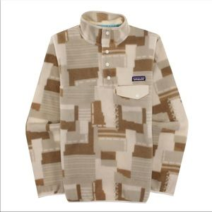 Patagonia Birch white and light brown snap up